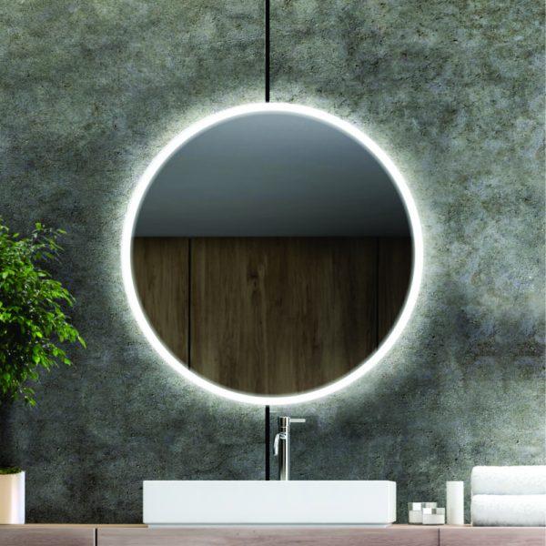 Apvalus veidrodis su priekiniu LED apšvietimu